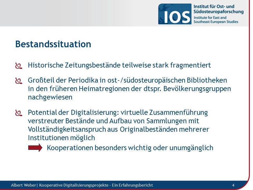 Digitalisierungsstrategie Albert Weber  Kooperative Digitalisierungsprojekte – Ein Erfahrungsbericht 5  Aufbau eines Netzwerks von Partnerbibliotheken (analog und digital) mit Interesse an der Digitalisierung dtspr.