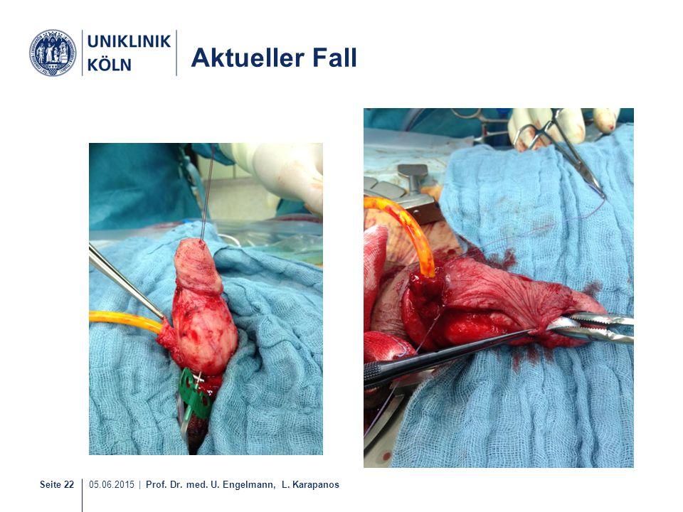 Seite 22 05.06.2015   Prof. Dr. med. U. Engelmann, L. Karapanos Aktueller Fall