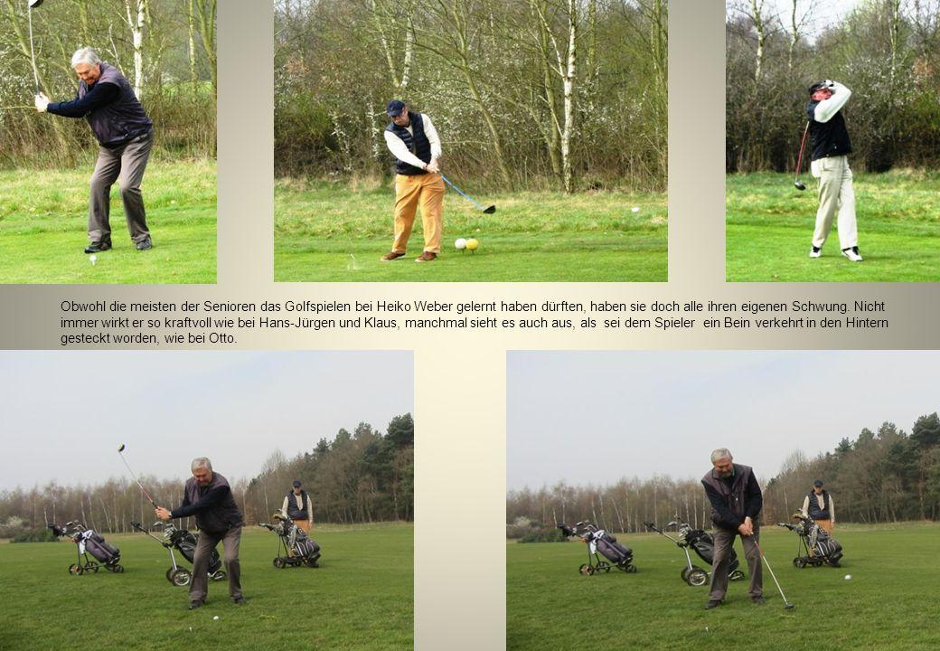 Obwohl die meisten der Senioren das Golfspielen bei Heiko Weber gelernt haben dürften, haben sie doch alle ihren eigenen Schwung.