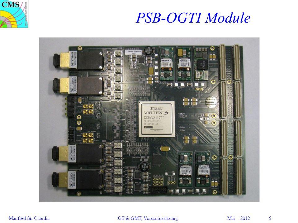 Manfred für Claudia GT & GMT, Vorstandssitzung Mai 2012 5 PSB-OGTI Module