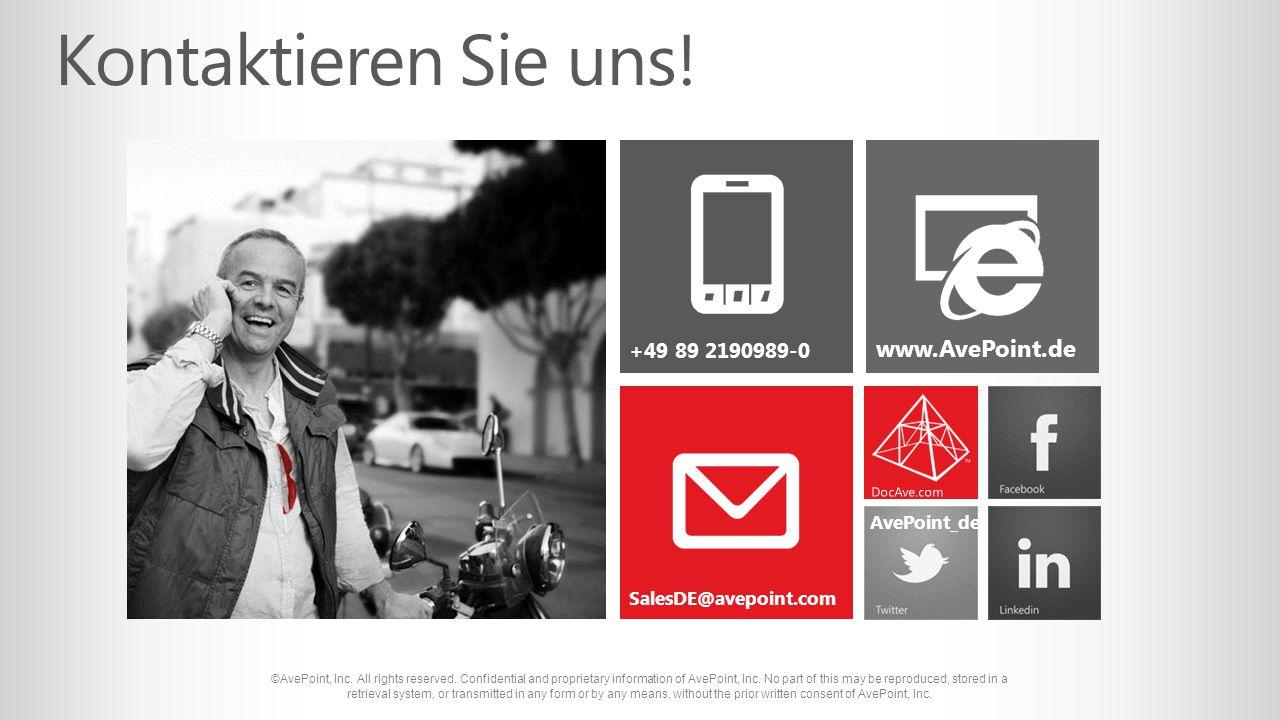 SalesDE@avepoint.com www.AvePoint.de +49 89 2190989-0 AvePoint_de