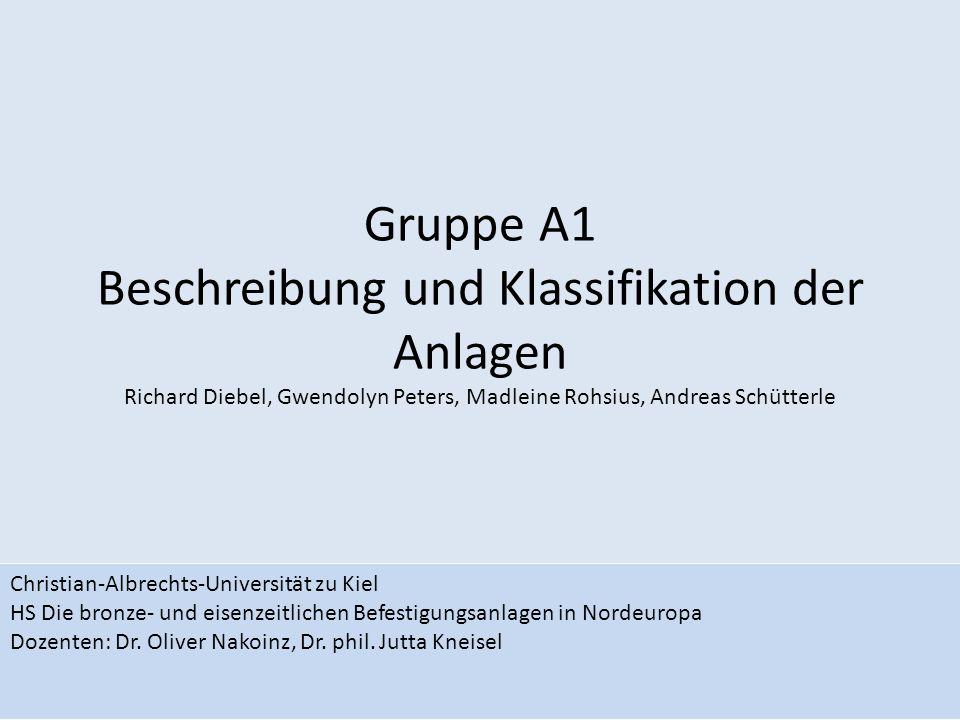 Gruppe A1 Beschreibung und Klassifikation der Anlagen Richard Diebel, Gwendolyn Peters, Madleine Rohsius, Andreas Schütterle Christian-Albrechts-Unive