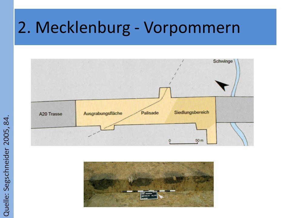 Quelle: Segschneider 2005, 84. 2. Mecklenburg - Vorpommern