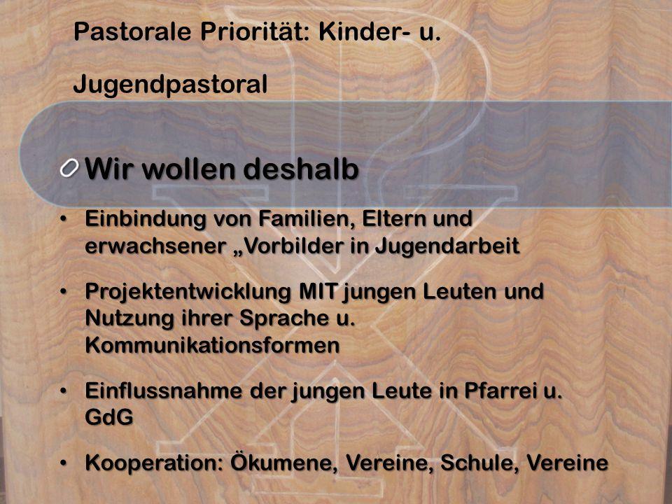 Pastorale Priorität: Kinder- u.