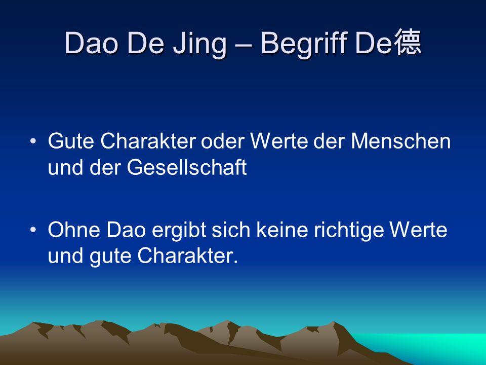 Laozi als Gottheit in der daoistischen Religion einer der Drei Reinen (sanqing 三清, doistische Gottheiten) verkörperte den Heiligen, seine Züge vermischten sich mit den Gottheiten Taiyi ( 太一 ) und Huang Di (皇帝) gilt als Verkörperung des Dao und Vermittler zwischen Himmel und Erde wandelt sich mit den Zyklen der Zeit und nimmt vielerlei Formen an ist gleich dem Dao in der Lage, sich ins Unendliche auszudehnen und unendlich klein zu werden.
