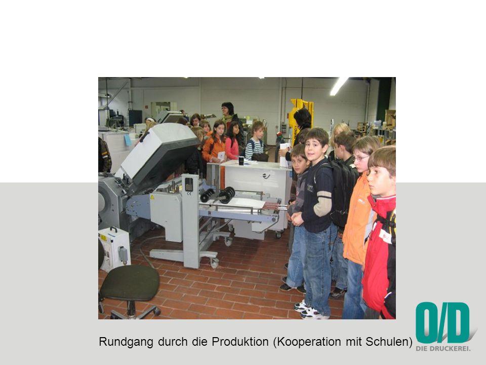 Rundgang durch die Produktion (Kooperation mit Schulen)