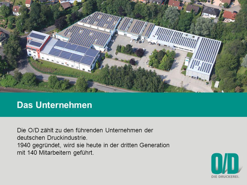 Das Unternehmen Die O/D zählt zu den führenden Unternehmen der deutschen Druckindustrie.