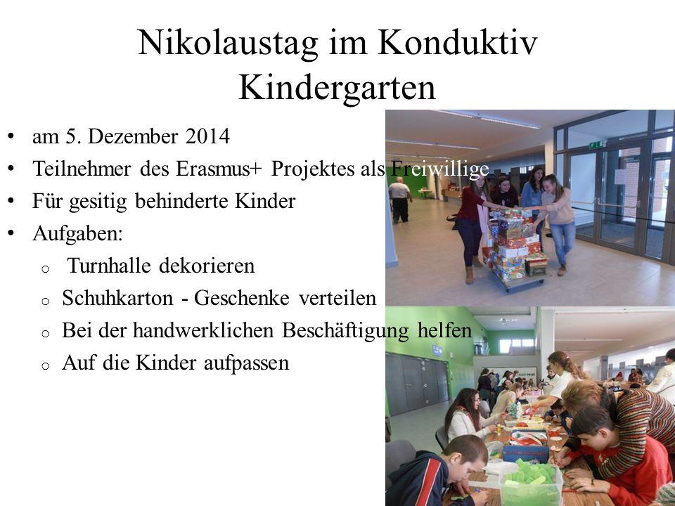 Nikolaustag im Konduktiv Kindergarten am 5.