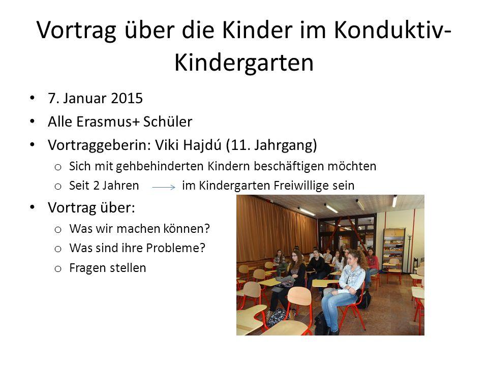 Vortrag über die Kinder im Konduktiv- Kindergarten 7.