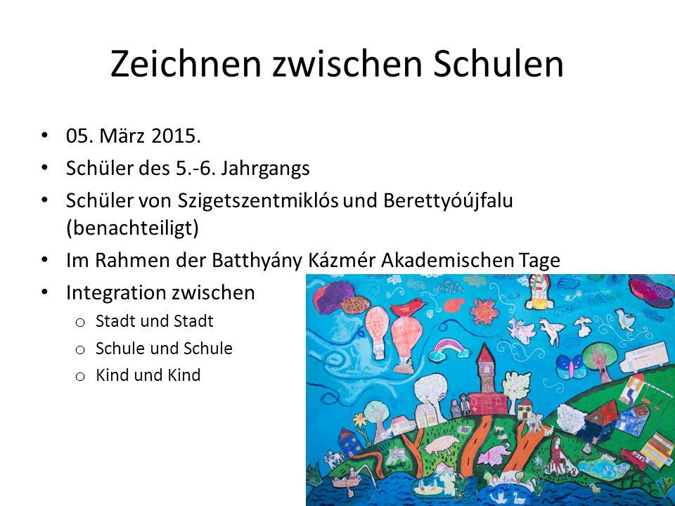 Zeichnen zwischen Schulen 05. März 2015. Schüler des 5.-6.
