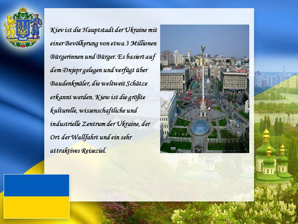 Kiev ist die Hauptstadt der Ukraine mit einer Bevölkerung von etwa 3 Millionen Bürgerinnen und Bürger. Es basiert auf dem Dnjepr gelegen und verfügt ü