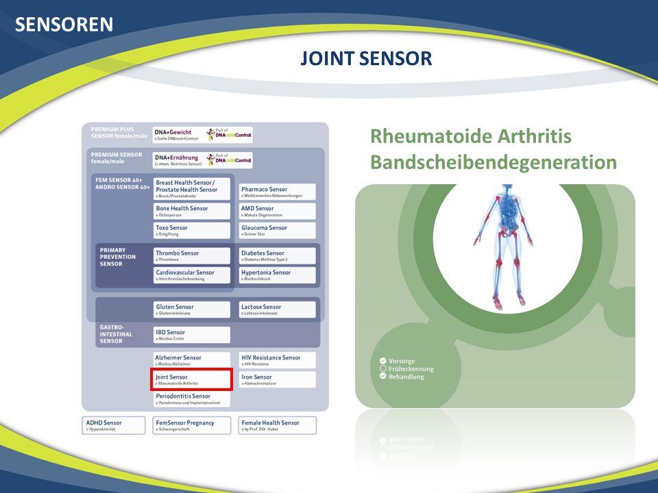 SENSOREN JOINT SENSOR Rheumatoide Arthritis Bandscheibendegeneration