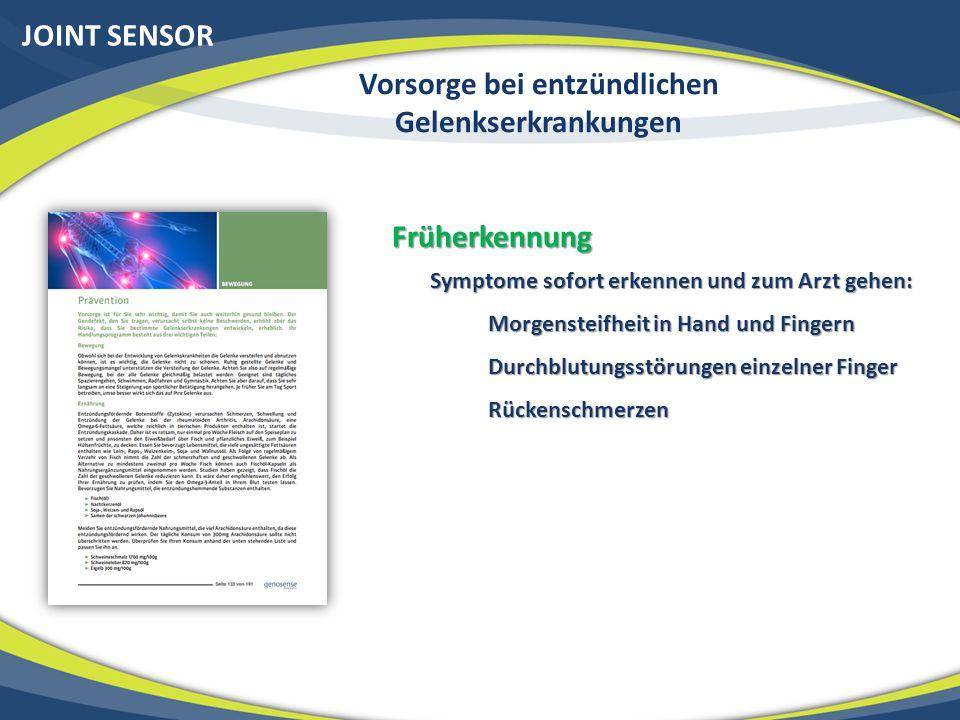 Ende des Kapitels Entzündliche Gelenkserkrankungen und Genetik (Joint Sensor) 52