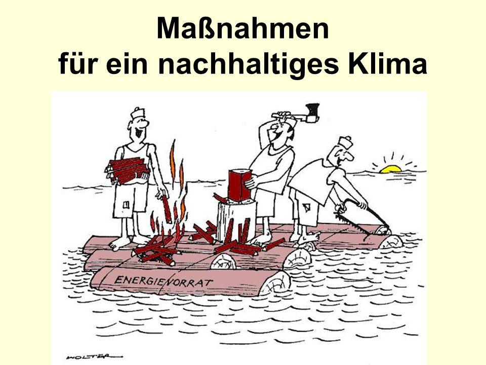 Wie erreichen wir ein nachhaltiges Klima .Es gibt sehr viele nützliche Vorschläge.