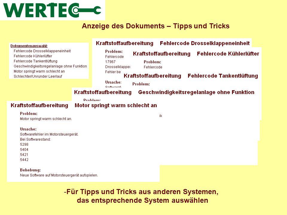 Anzeige des Dokuments – Tipps und Tricks -Für Tipps und Tricks aus anderen Systemen, das entsprechende System auswählen