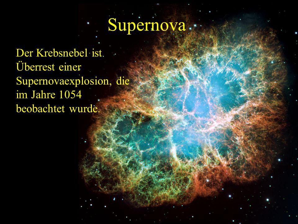 Supernova Es gibt zwei Mechanismen, nach denen Sterne zur Supernova werden können: 1.