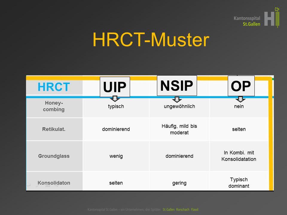 UIP NSIP OP HRCT-Muster