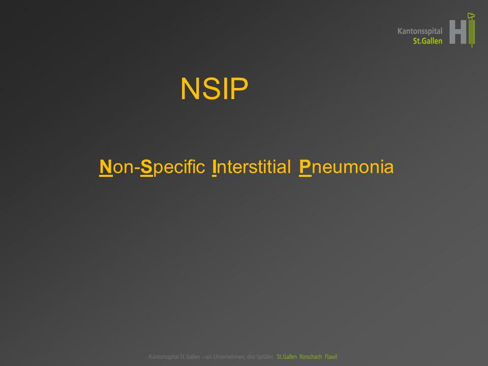 Non-Specific Interstitial Pneumonia NSIP