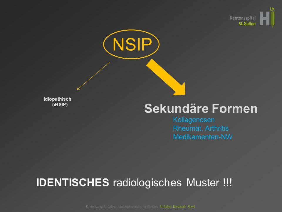 Idiopathisch (iNSIP) Sekundäre Formen Kollagenosen Rheumat.