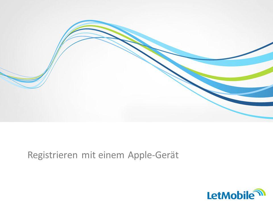 Registrieren mit einem Apple-Gerät