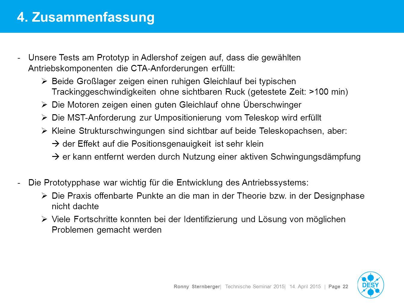 Ronny Sternberger| Technische Seminar 2015| 14. April 2015 | Page 22 4.