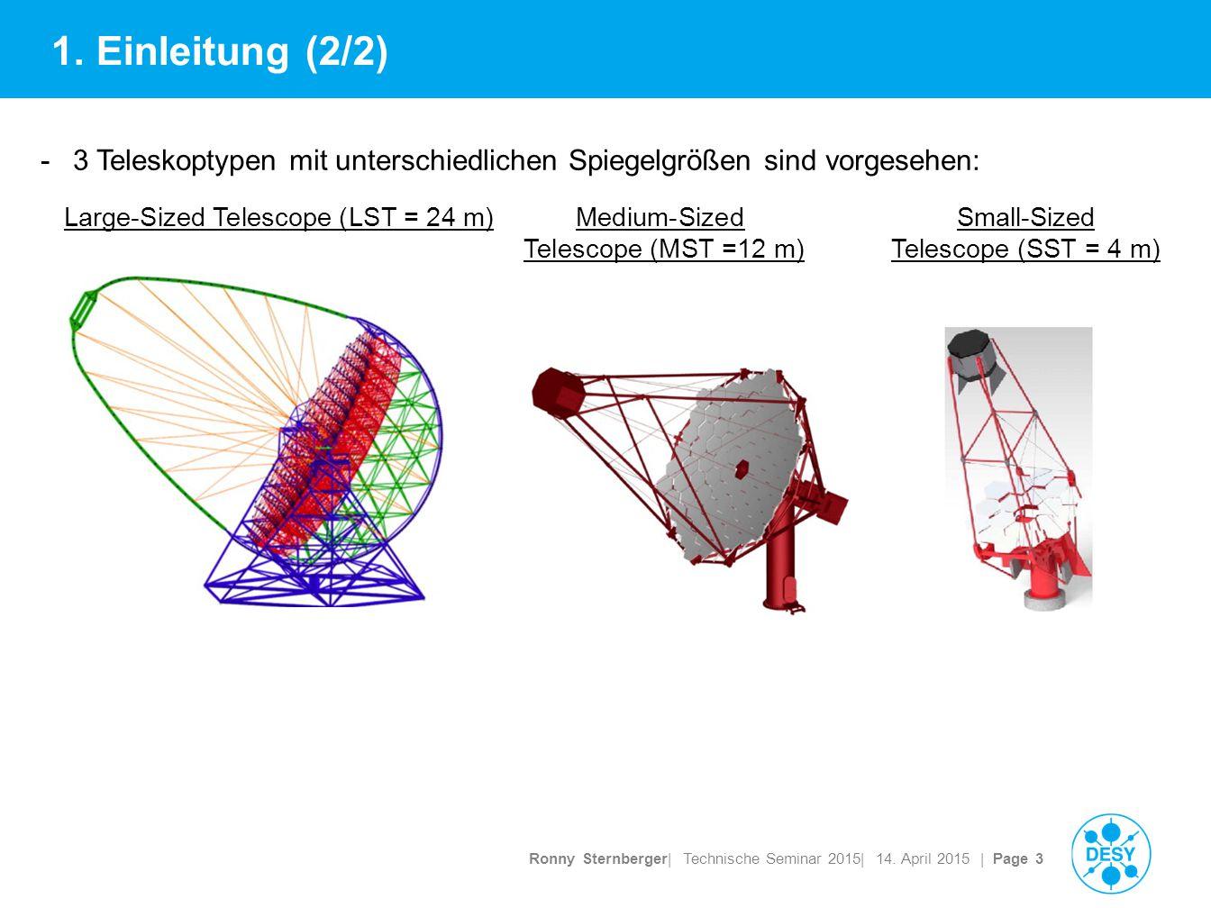 Ronny Sternberger| Technische Seminar 2015| 14. April 2015 | Page 3 1.