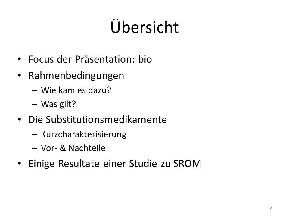 Übersicht Focus der Präsentation: bio Rahmenbedingungen – Wie kam es dazu.