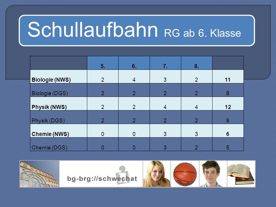 Schullaufbahn RG ab 6. Klasse 5.6.7.8.