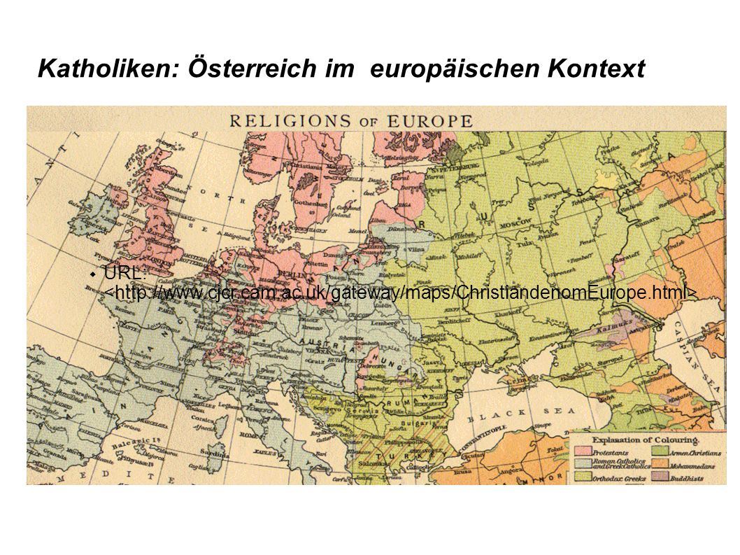 Katholiken: Österreich im europäischen Kontext  URL: