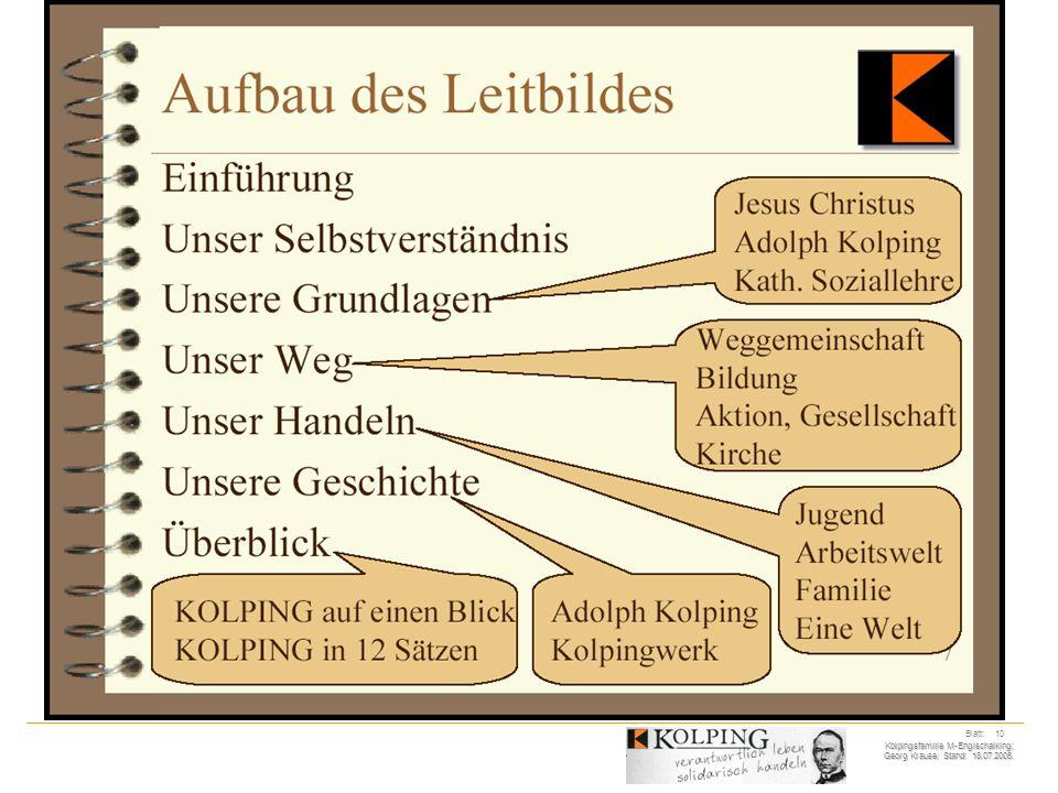 Kolpingsfamilie M-Englschalking; Georg Krause; Stand: 18.07.2005. Blatt: 10
