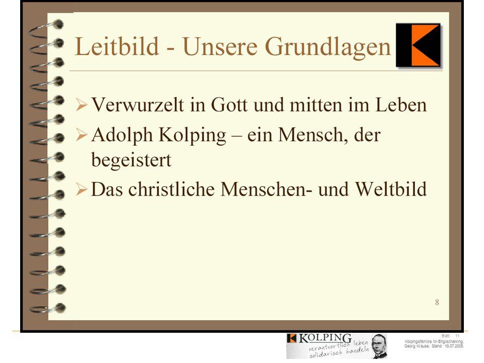 Kolpingsfamilie M-Englschalking; Georg Krause; Stand: 18.07.2005. Blatt: 11