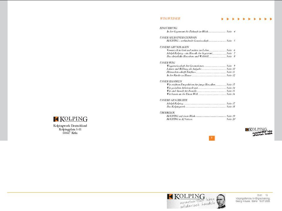 Kolpingsfamilie M-Englschalking; Georg Krause; Stand: 18.07.2005. Blatt: 19