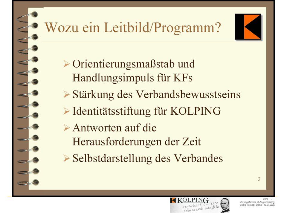 Kolpingsfamilie M-Englschalking; Georg Krause; Stand: 18.07.2005. Blatt: 18