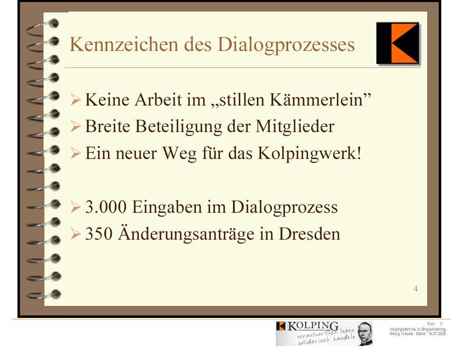 Kolpingsfamilie M-Englschalking; Georg Krause; Stand: 18.07.2005. Blatt: 8