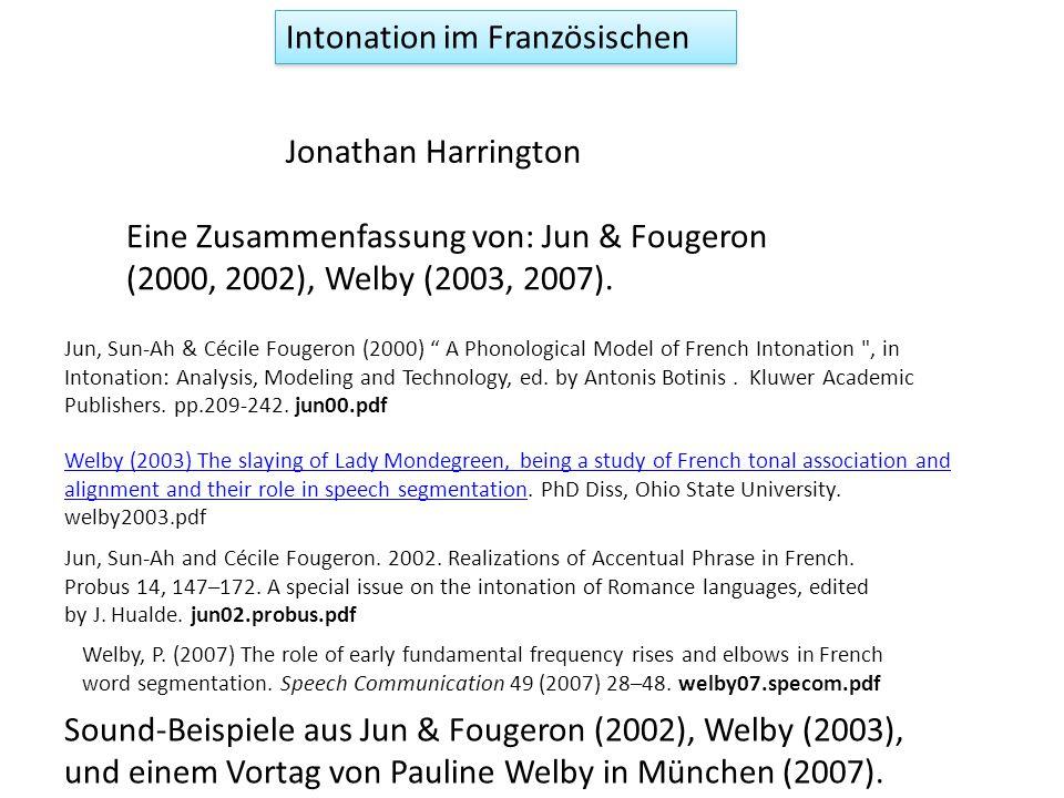 Akzentuierung und Fokussierung d.h.
