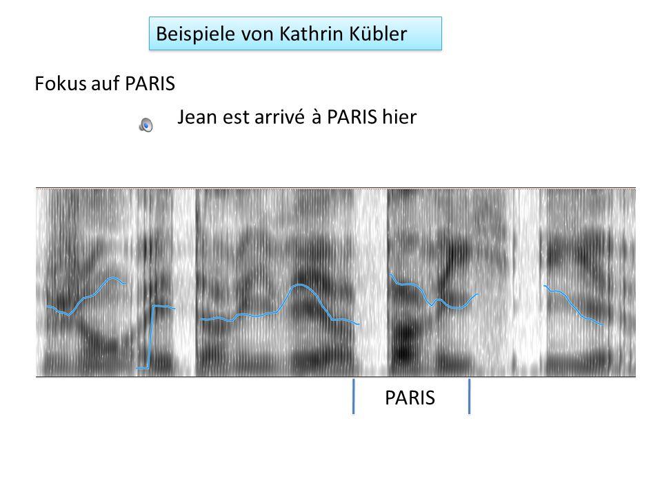 Beispiele von Kathrin Kübler, Magisterarbeit, 2009 Fokus auf JEAN JEAN est arrivé à Paris hier Jean