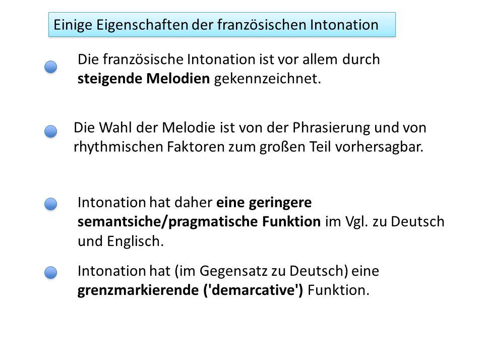 lecoléreuxgarçonment àsamère L1L1 L1L1 H1H1 H1H1 L2L2 L2L2 H* L1L1 L1L1 H1H1 H1H1 L% AP IP Der Grenzton (aus Jun & Fougeron, 2002) L2?L2.