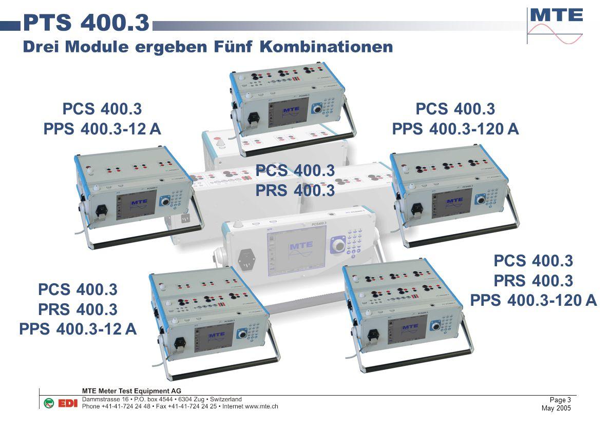 Page 3 May 2005 PCS 400.3 PPS 400.3-12 A PCS 400.3 PRS 400.3 PCS 400.3 PPS 400.3-120 A PCS 400.3 PRS 400.3 PPS 400.3-120 A PCS 400.3 PRS 400.3 PPS 400