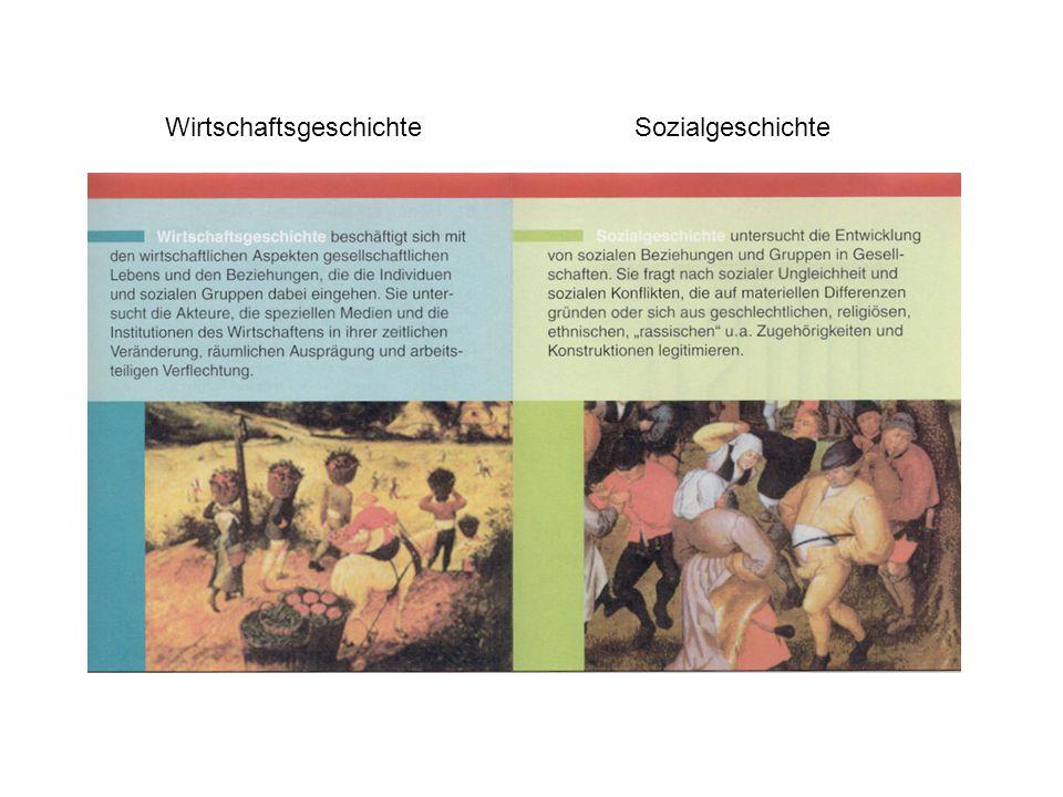 Forschungs- und Lehrschwerpunkte: Wirtschafts- und Sozialgeschichte des 19.