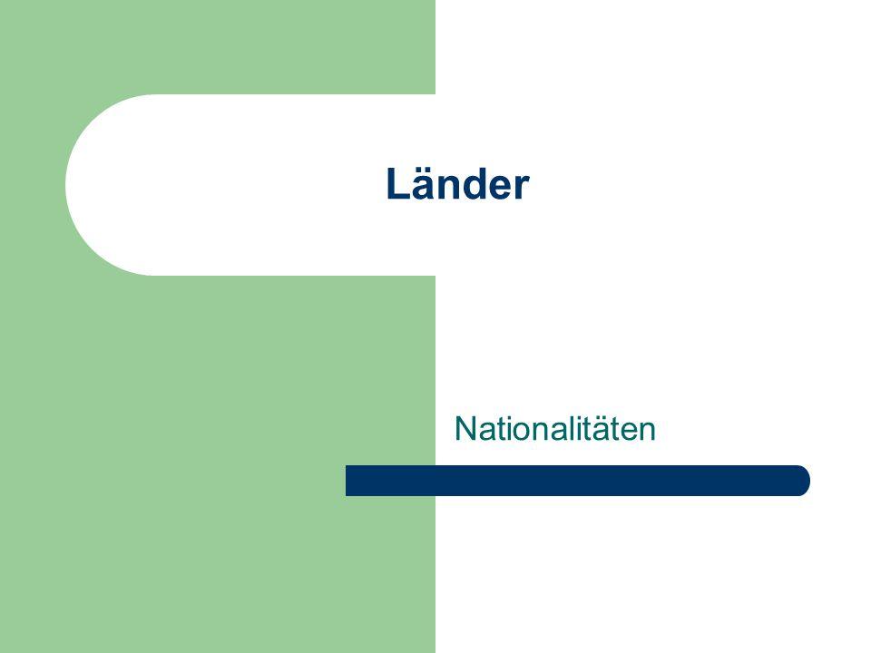 Länder Nationalitäten