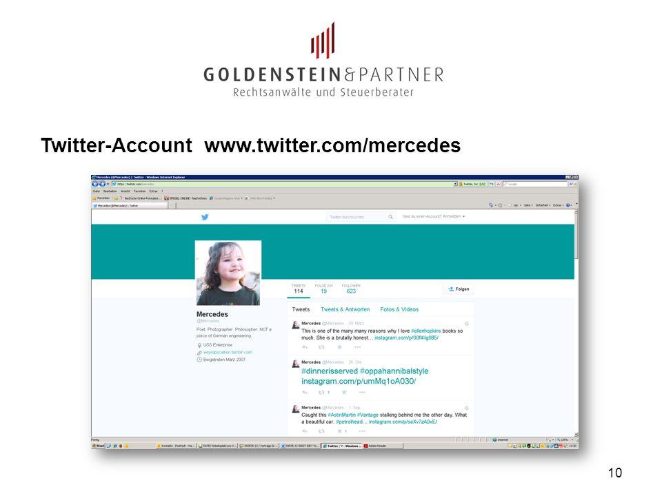 Twitter-Account www.twitter.com/mercedes 10