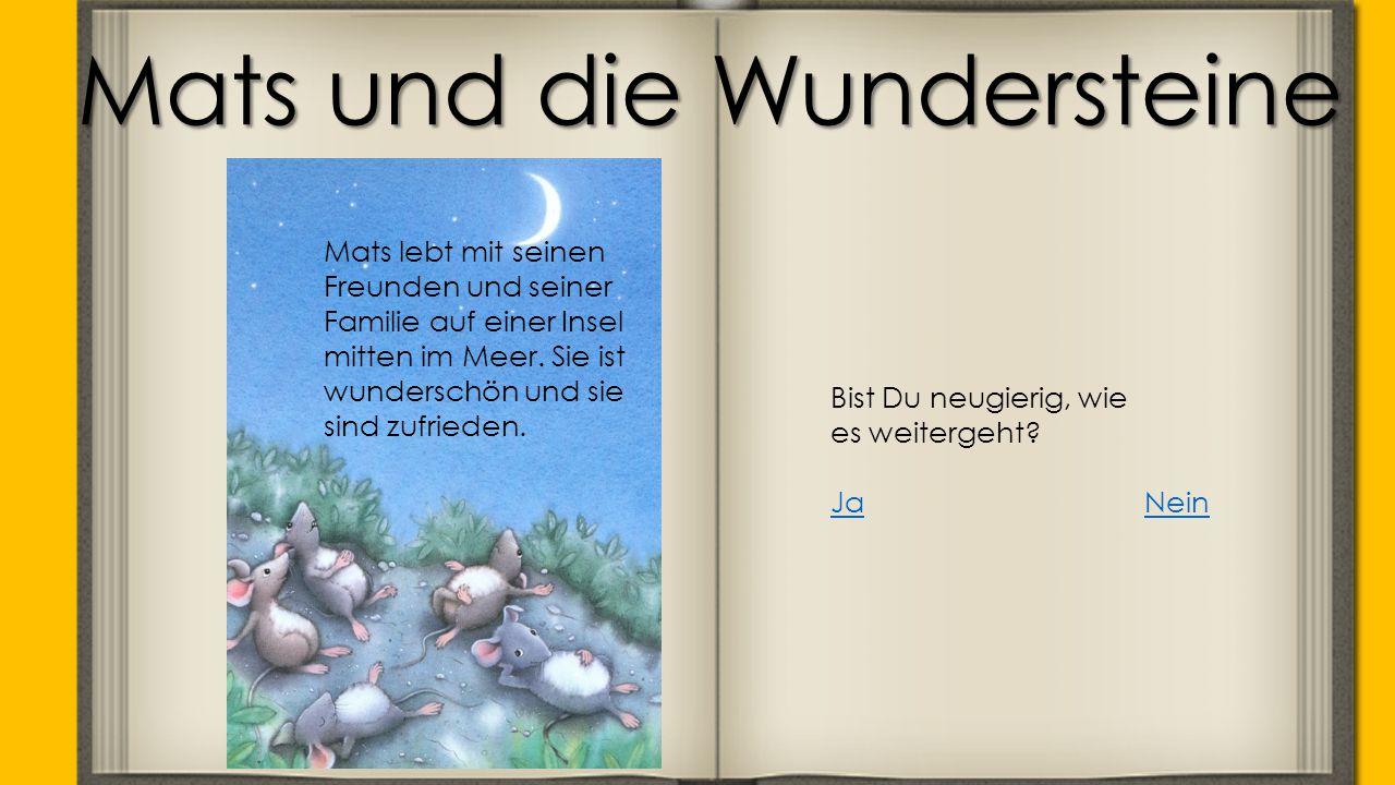 Mats und die Wundersteine Mats lebt mit seinen Freunden und seiner Familie auf einer Insel mitten im Meer.