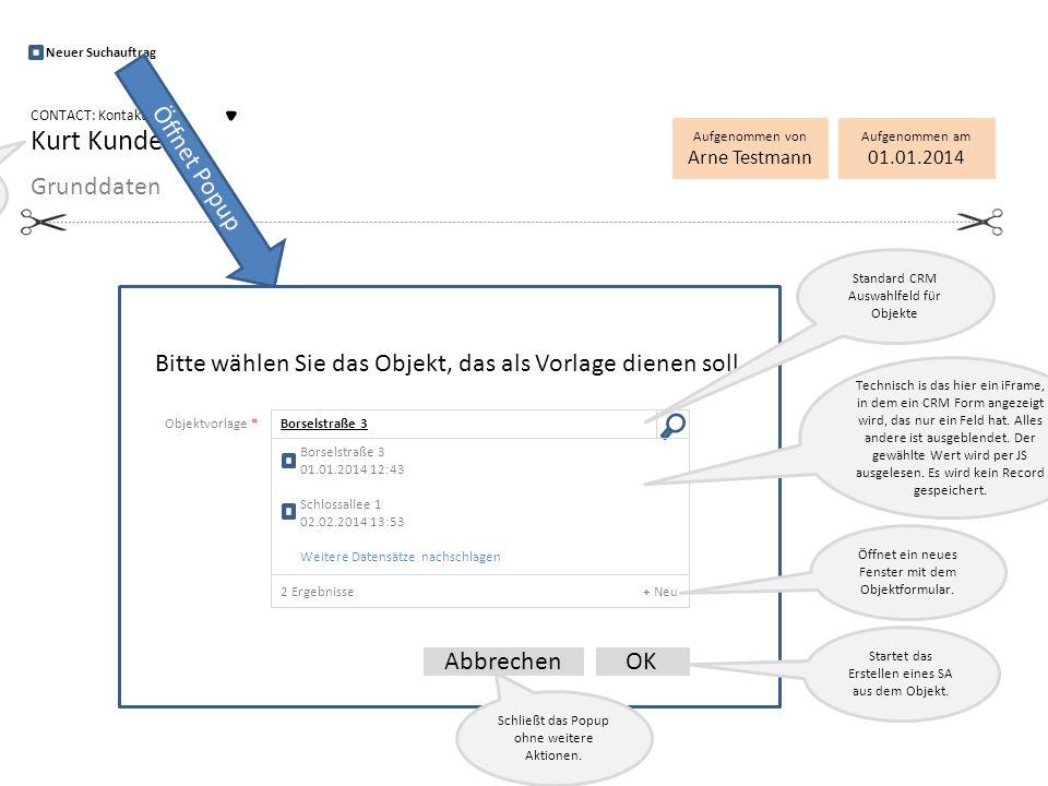 Objektvorlage * Borselstraße 3 Bitte wählen Sie das Objekt, das als Vorlage dienen soll.