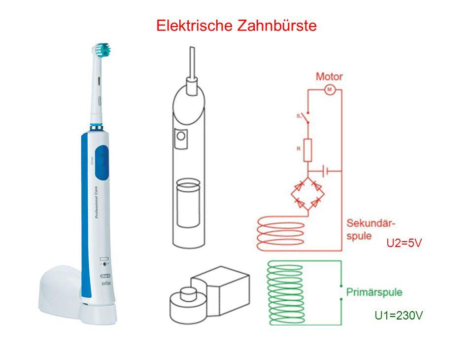 Elektrische Zahnbürste U1=230V U2=5V