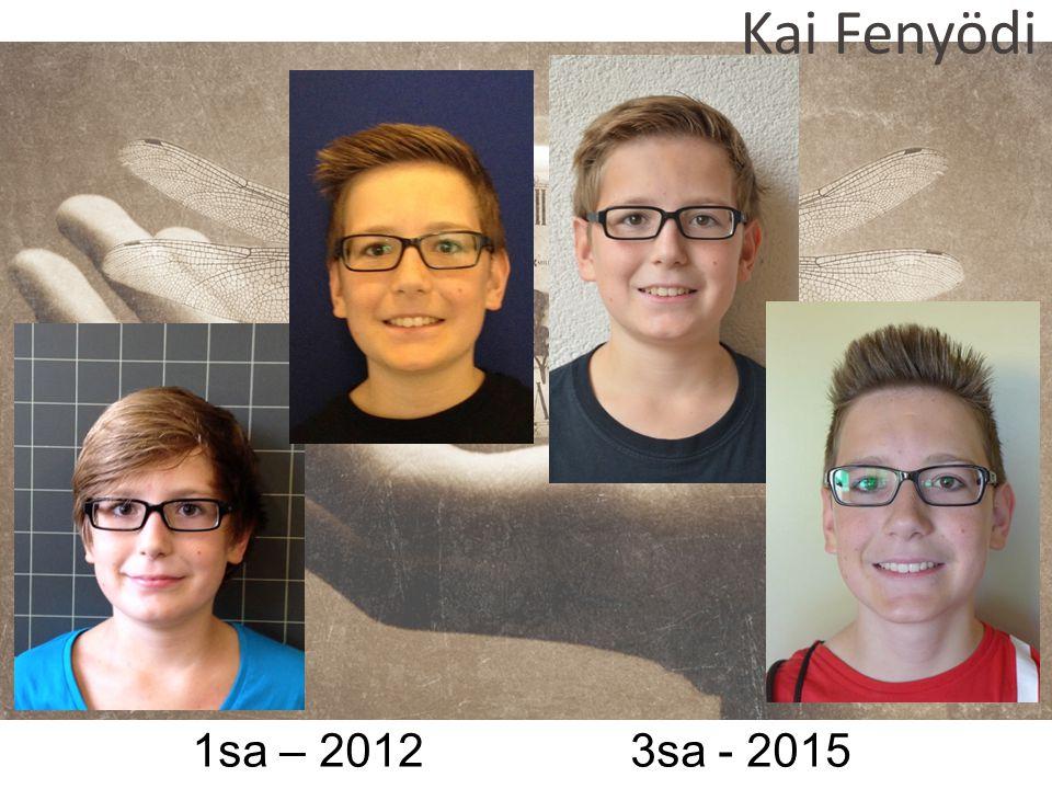 1sa – 2012 3sa - 2015 Kai Fenyödi