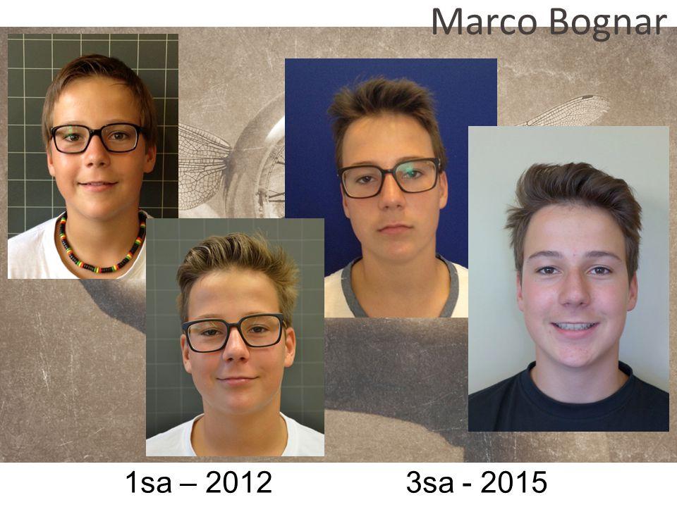 1sa – 2012 3sa - 2015 Marco Bognar