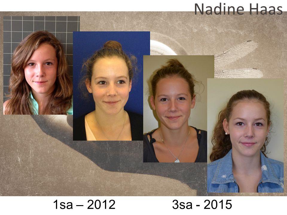 1sa – 2012 3sa - 2015 Nadine Haas