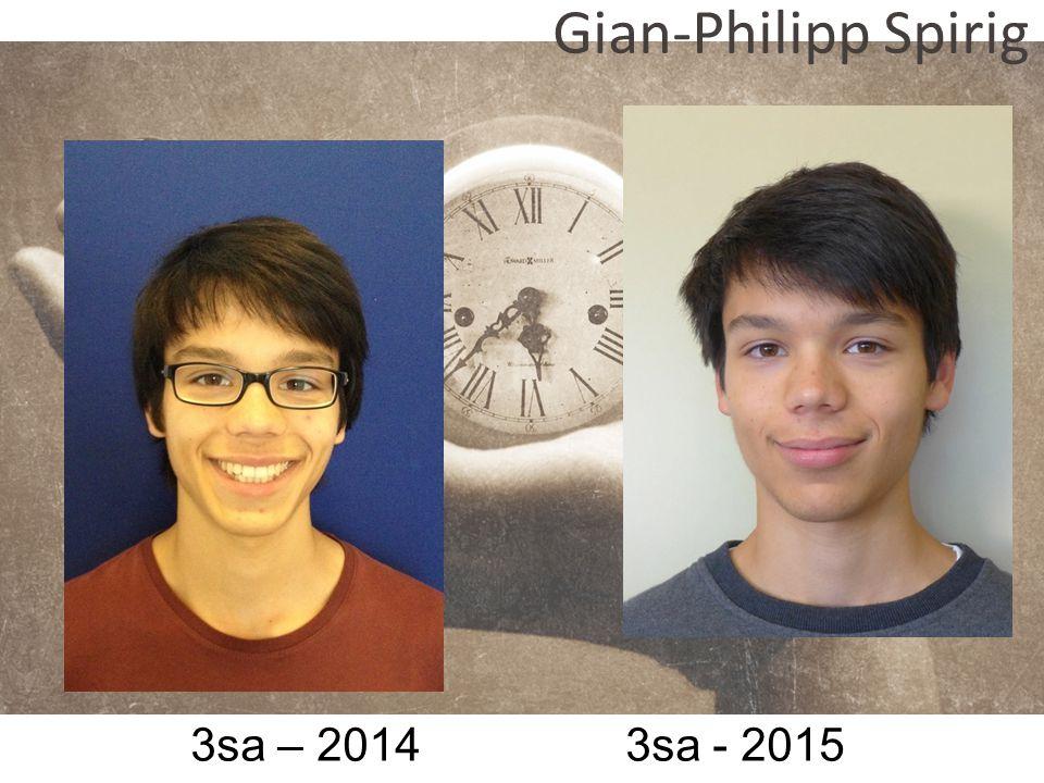 3sa – 2014 3sa - 2015 Gian-Philipp Spirig