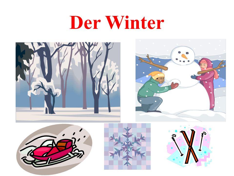 Hausaufgabe 1. Нарисовать картинку по теме « Зима». 2. Написать мини – сочинение о зиме.
