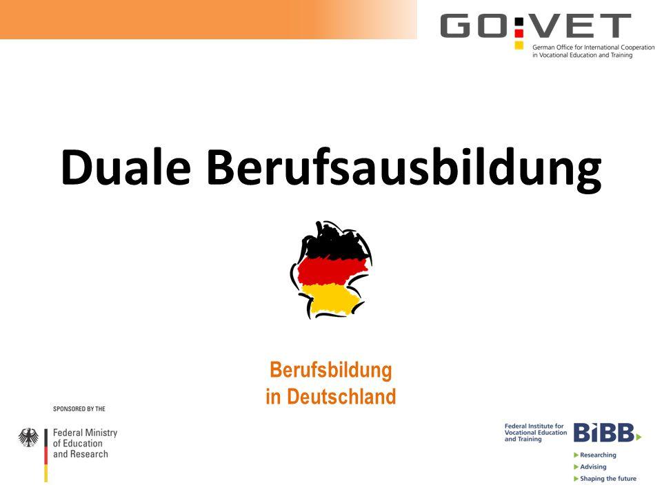 Duale Berufsausbildung Berufsbildung in Deutschland